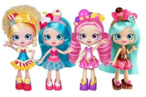 Shopkins dolls Bubbleisha, Jessicake and friends